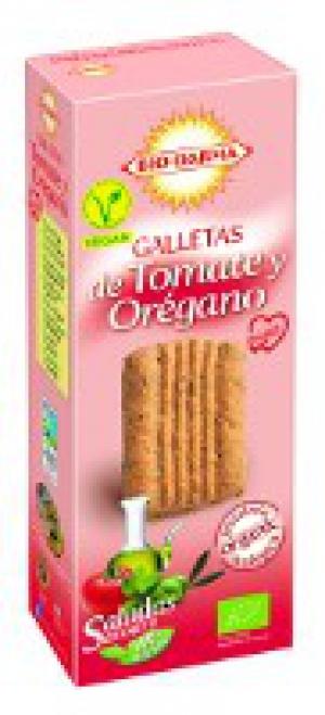 Veganské BIO sušenky slané s oregánem a rajčetem